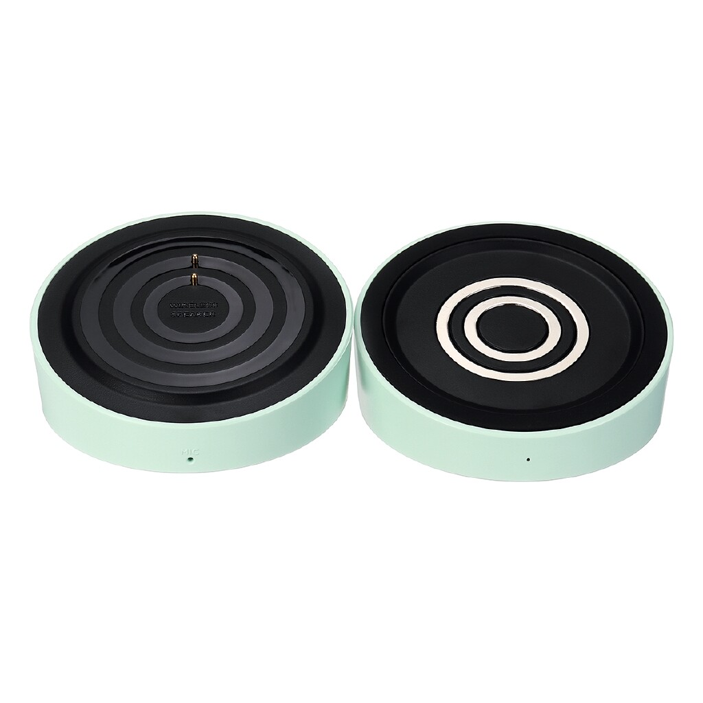 Over-Ear Headphones - MINISO PORTABLE BLUETOOTH Speaker WIRELESS Charger Mobile Stand Support TF Aux - WHITE / GREEN / BLACK / PINK