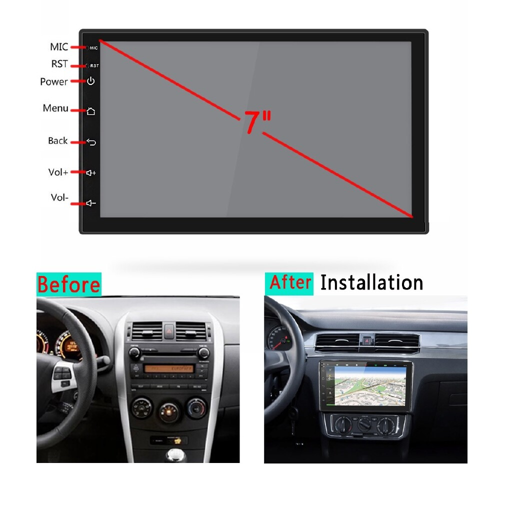 Vehicle GPS - 7'' 2 Din Android 8.1 Player Stereo BLUETOOTH For Toyota Corolla Hilux RAV4 - Car Electronics