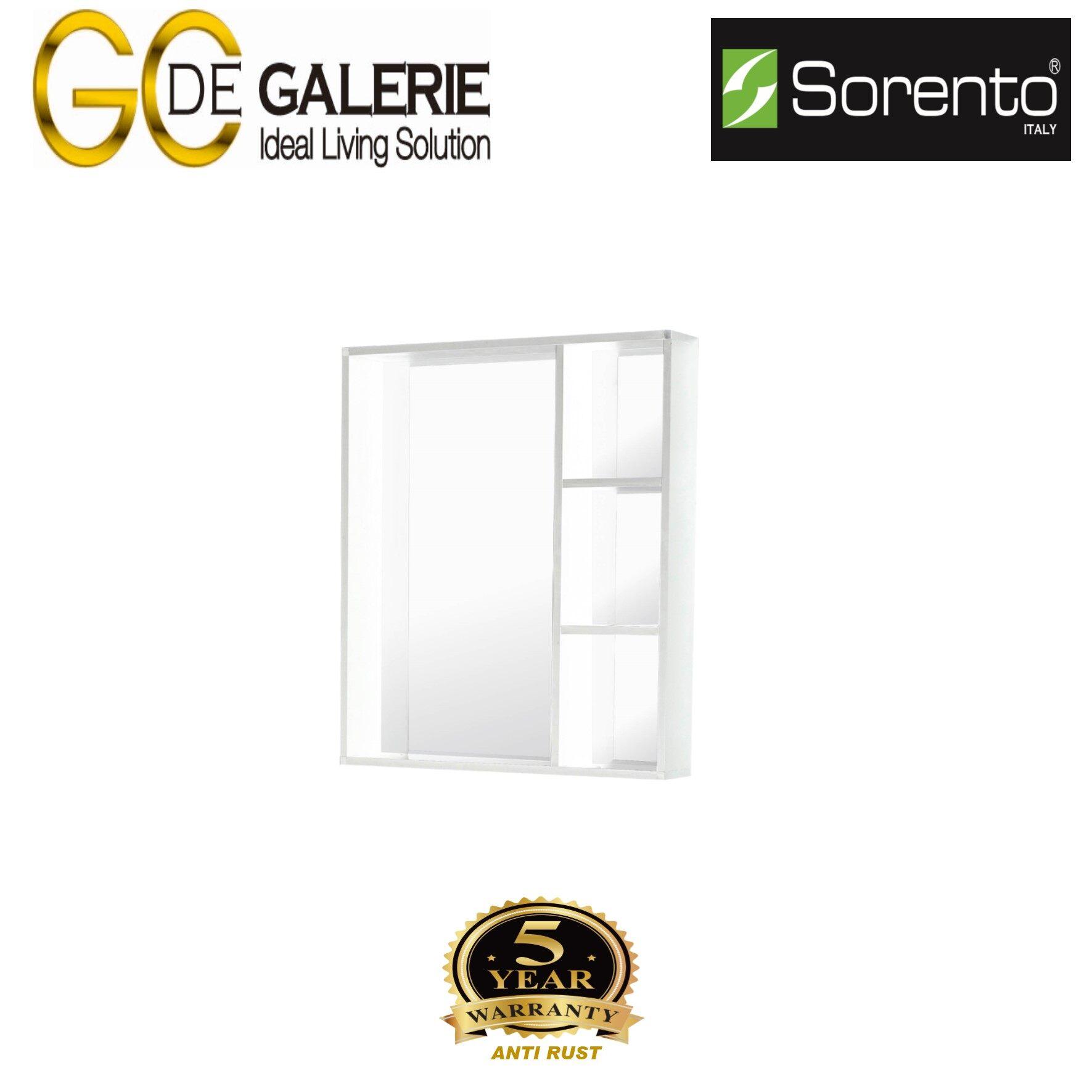 Sorento SRTMCB6061WH Bathroom Aluminium Mirror Cabinet