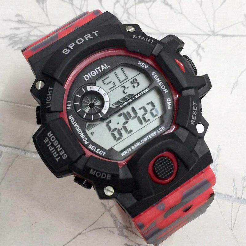 New Fashion_SPORTS Digital Time Display Sport Design Shock Resistant 100m Water Resistant Watch For Unisex