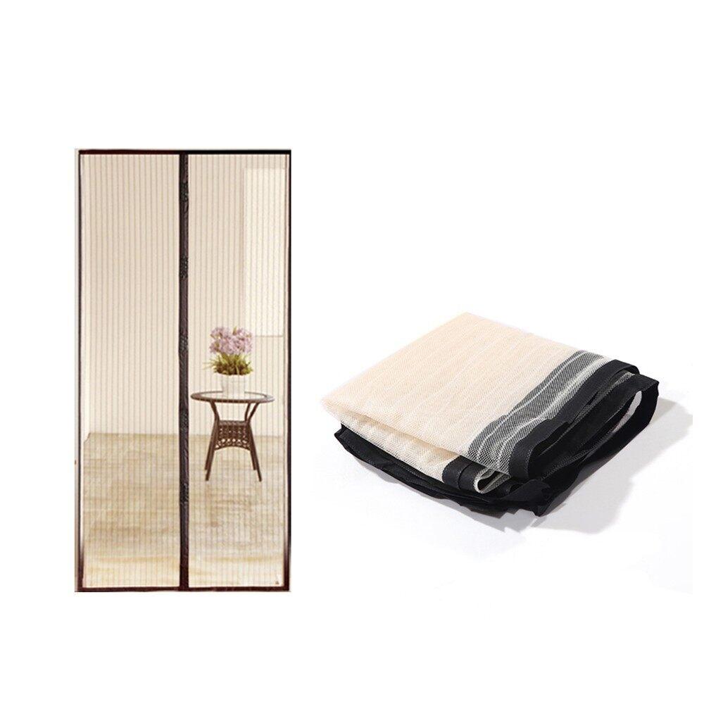 Home Improvement - Magic Bug Screen Magnetic Screen Door Mesh CurtainScreen Door - YELLOW / BLACK