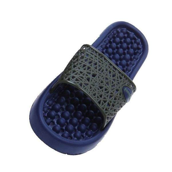 (Ready Stock in Selangor) Anti Slippery Bathroom/Indoor Slipper with HOLE - Dark Blue