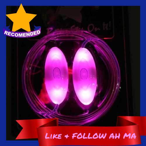Best Selling LED Battery Powered Operated Light Shoelace (Pink)