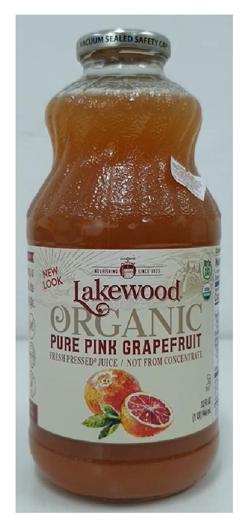 Lakewood Organic Pure Pink Grapefruit Juice 32oz