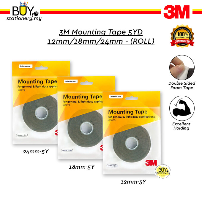 3M Mounting Tape 5YD 12mm/18mm/24mm - (ROLL)