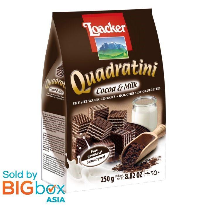Loacker Quadratini Sandwich 250g - Cocoa & Milk