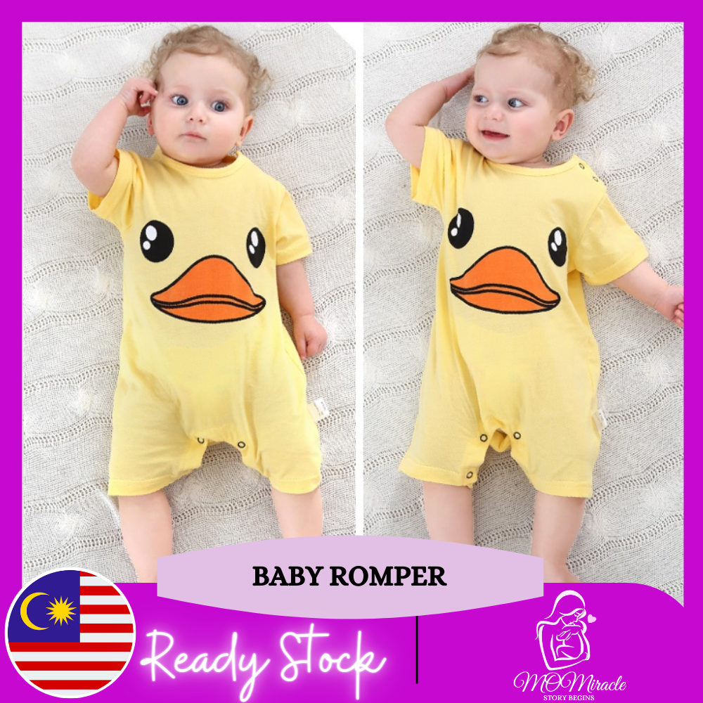 MOMiracle FAST SELLING MYSTERY Premium Cotton Design Short Sleeve Baby Romper Boy / Girl Newborn Jumpsuit 100% Cotton