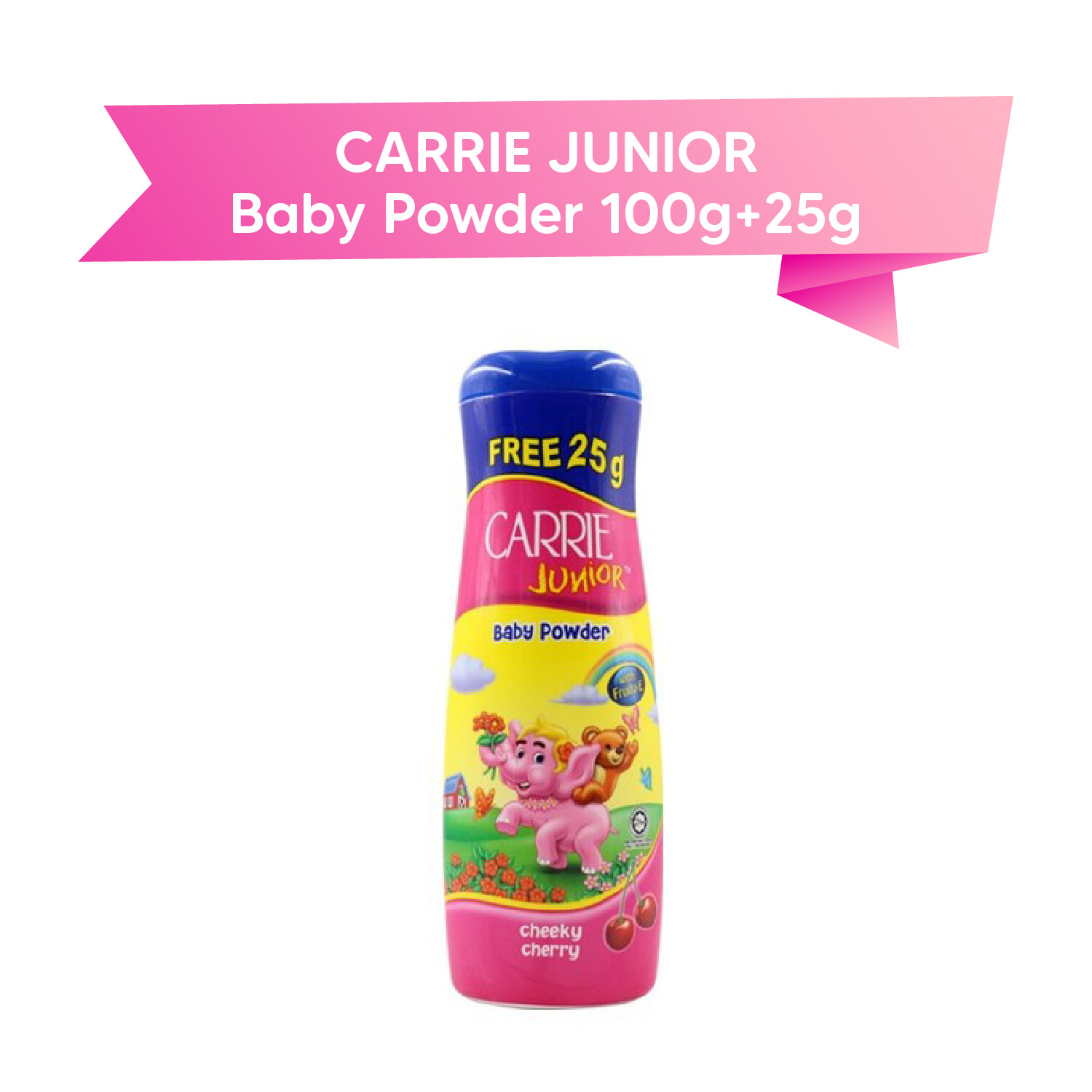 CARRIE JUNIOR Baby Powder 100g + 25 g (cheeky cherry)