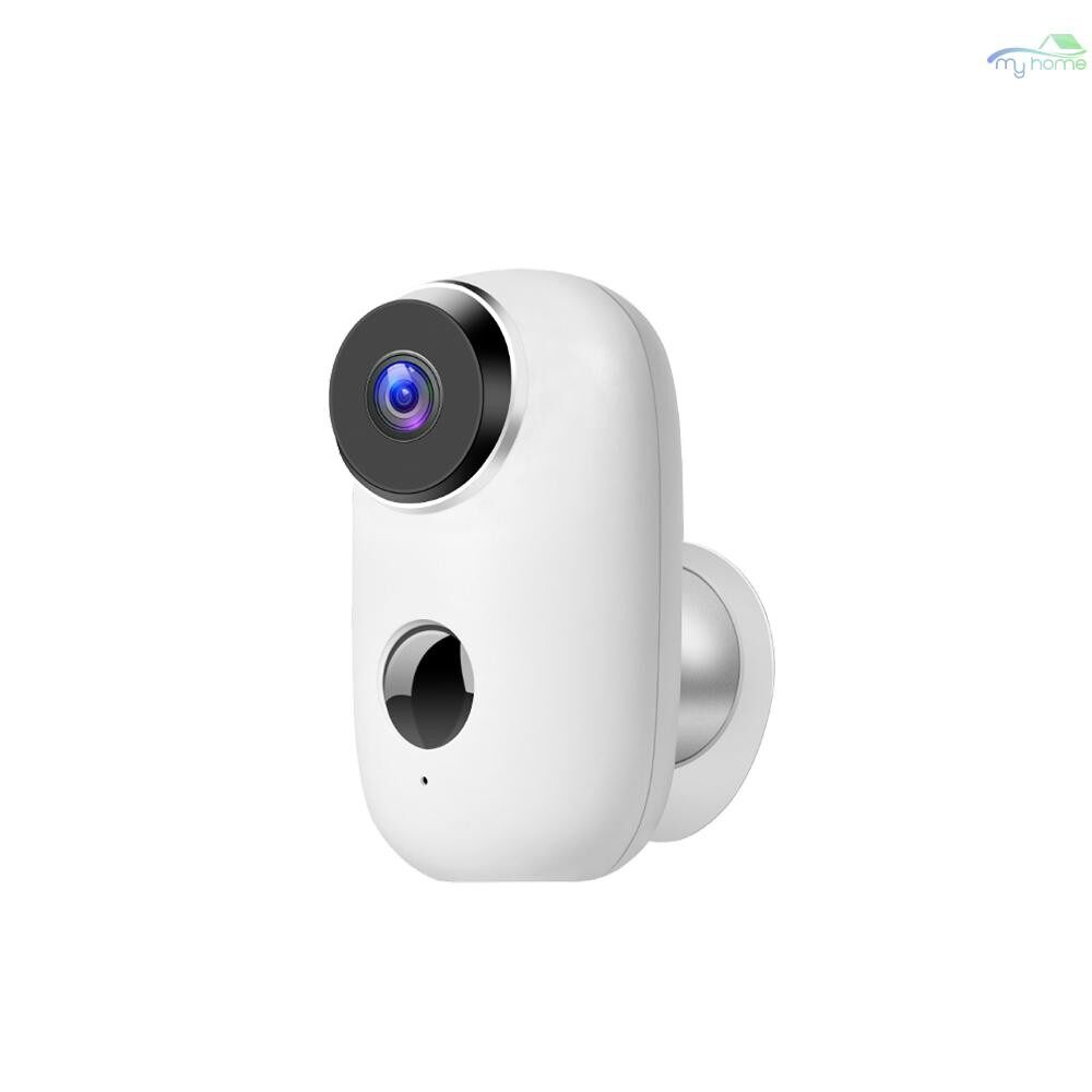 CCTV Security Cameras - Security Camera WIFI Outdoor Battery Powered Monitor PIR Waterproof WIRELESS Home Security IP - WHITE