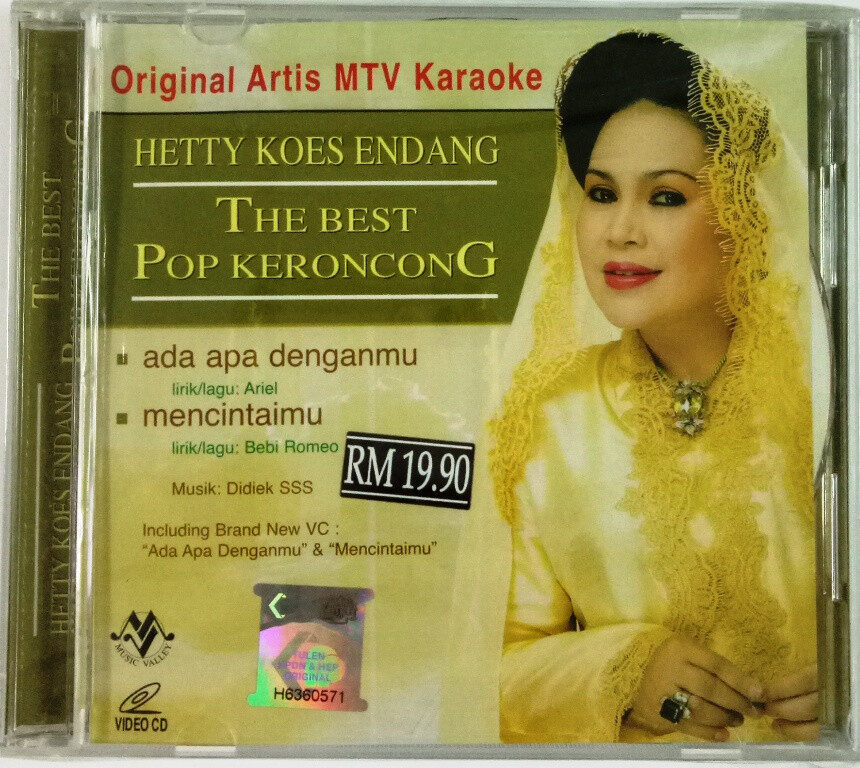 Hetty Koes Endang The Best Pop Keroncong Original Artist MTV Karaoke VCD