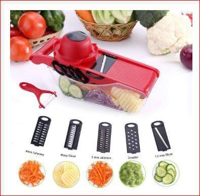 ?HOT?10In1 Mandoline Slicer Vegetable Grater Cutter With Stainless Steel Blade
