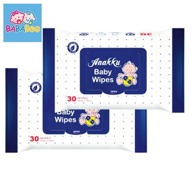 Anakku Baby Wipes Wet Tissue / Tisu Basah Bayi (30's x 2 Packs) WT6