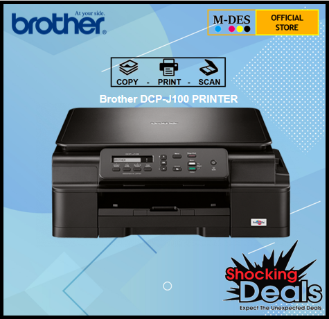 Brother DCP-J100 INK BENEFIT 3-IN-1 PRINTER WITH ORIGINAL INK (T310 2529 G2010)