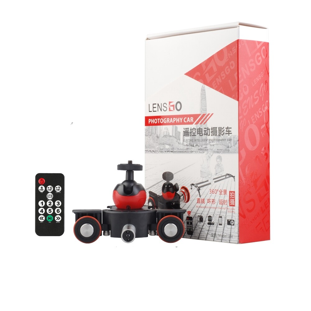 Memory Cards - Lensgo L8X Slider Dolly Photography Electronic Car with Remote Control Ball Head Phone Clip - Storage & Hard Drives