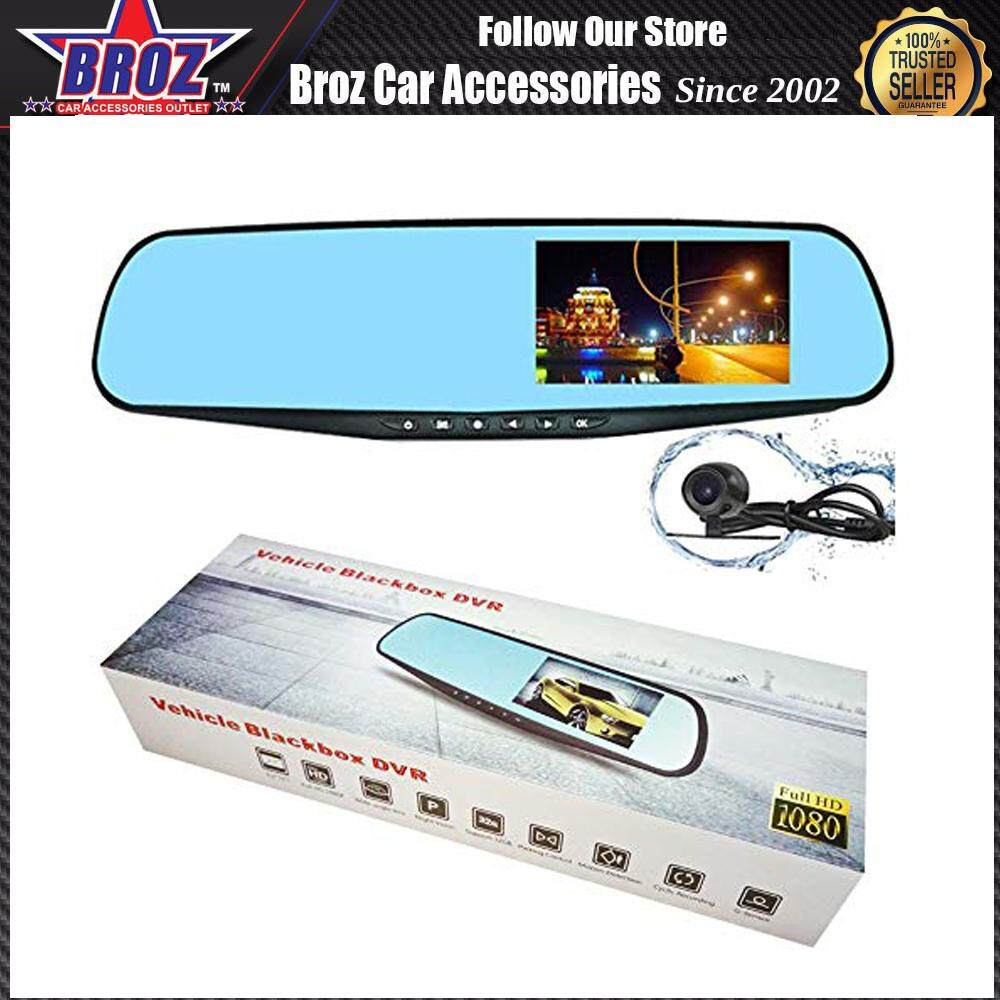 4.3  TFT LCD Color Monitor Car Reverse Rear View Mirror For Reverse Camera Full Night Vision Wide Lens Blackbox DVR