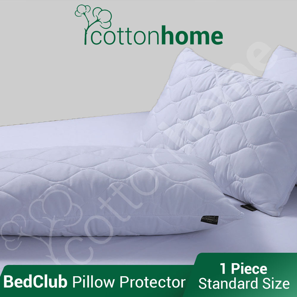 BedClub: Branded Pillow Protectors Padded: 100% cotton Top cover (1 Pc) / READY STOCK / FAST SHIPPING / FAST RESPONSE