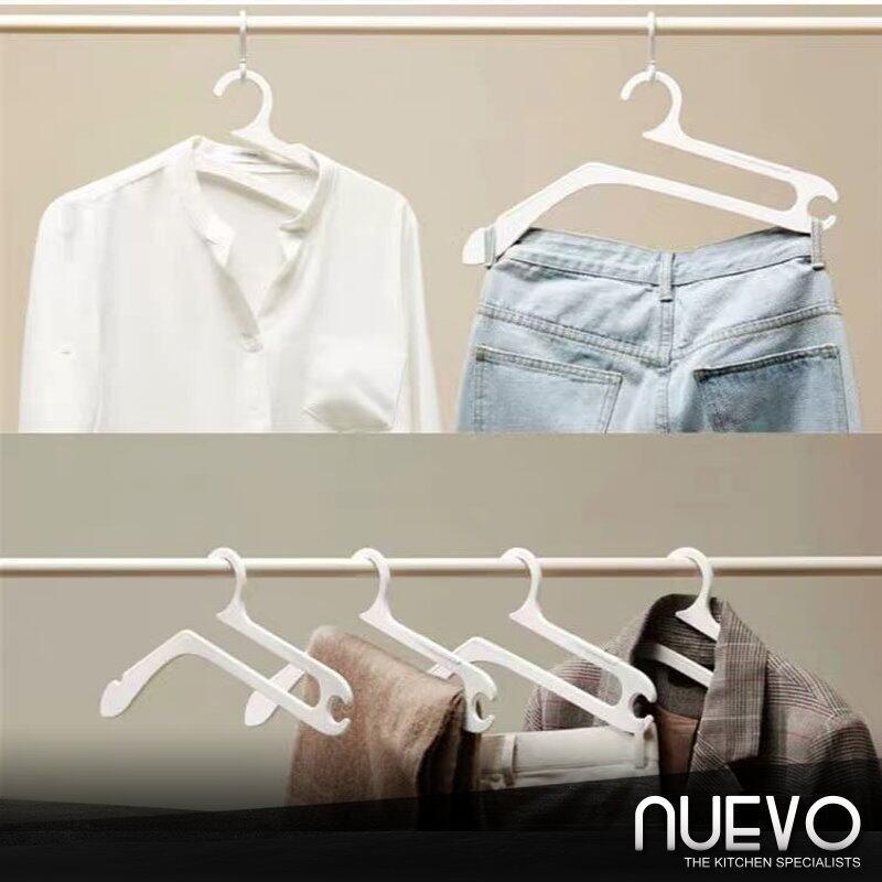 5pcs/set hanger household multifunctional clotheshorse creative lazy plastic clothes hang receive artifact
