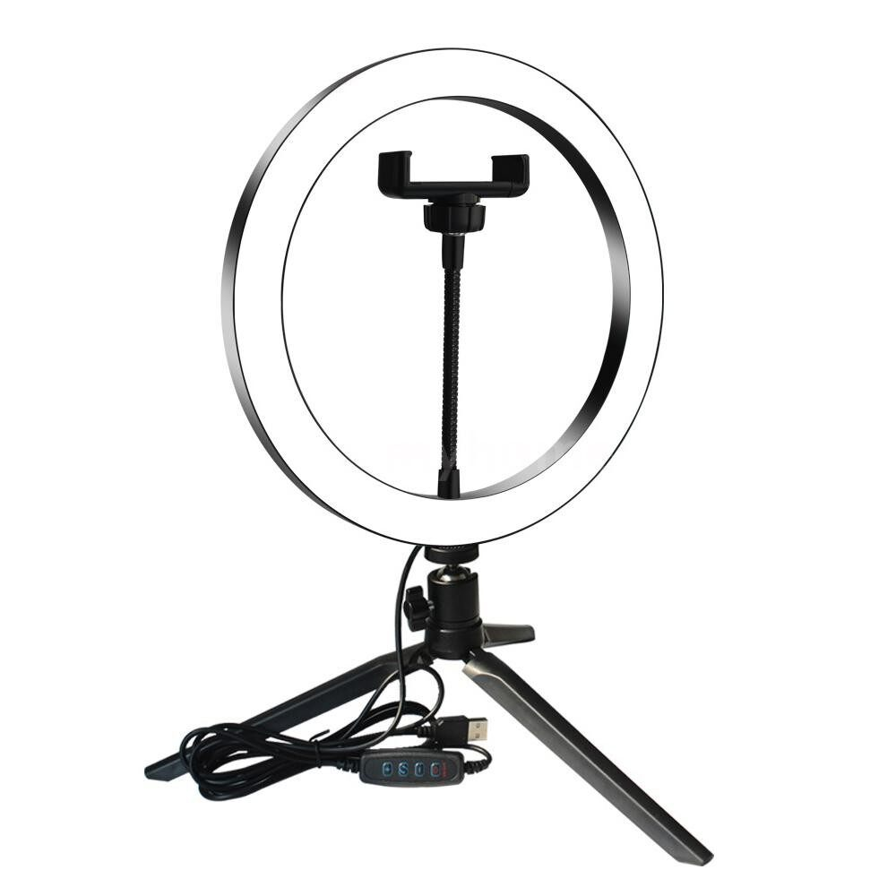 Lighting - DC5V 7W LED Light Round Selfie Camera Lamp with MINI Tripod USB Powered Operated 10 Levels - TYPE 4 / TYPE 3 / TYPE 2 / TYPE 1
