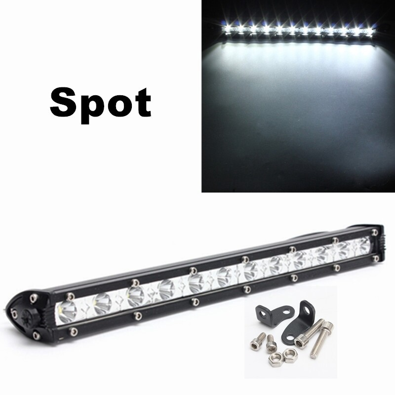 Car Lights - 13 Inch 36W White LED Spot Combo Lamp Driving Offroad Work Light Bar - Replacement Parts