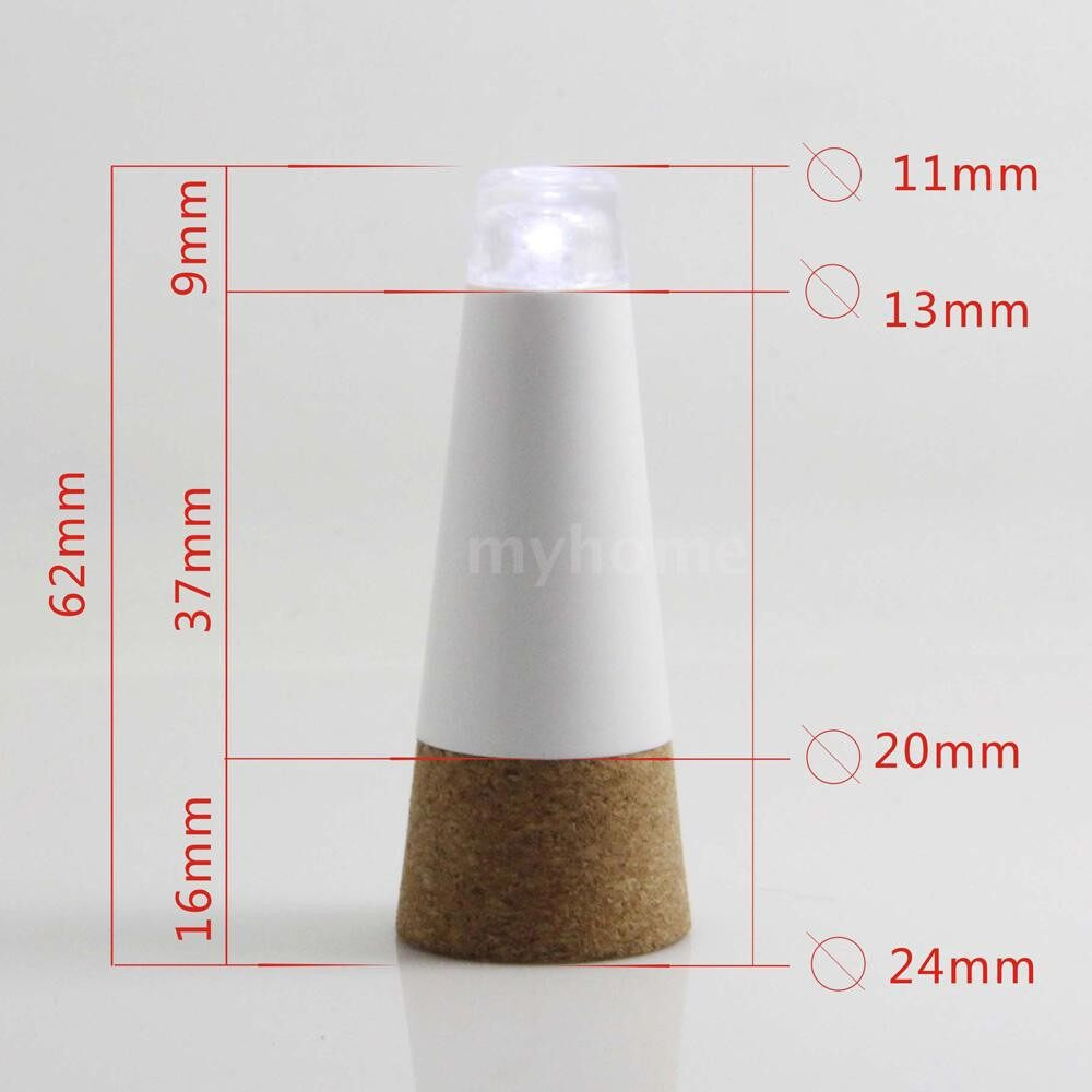 Lighting - Cork Shaped Rechargeable USB LED Night Light Super Bright Empty Wine Bottle Lamp for Party Patio - WHITE