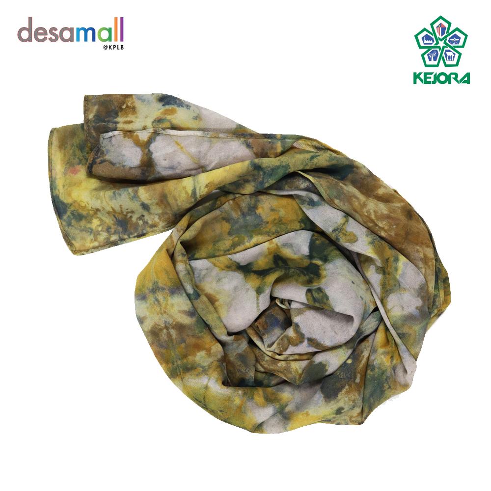 NORLI Shawl Batik Tie & Dye Base Color: Mustard