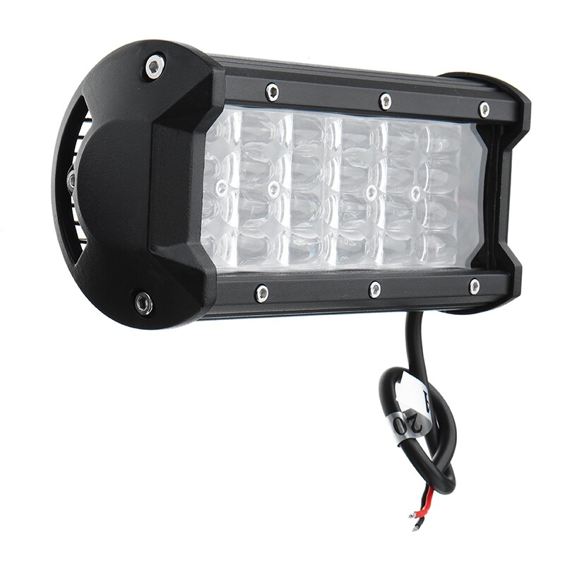 Car Lights - Quad Row 7Inch 72W 24 LED Work Light Bar Car DRL Driving Fog Lights Waterproof - Replacement Parts