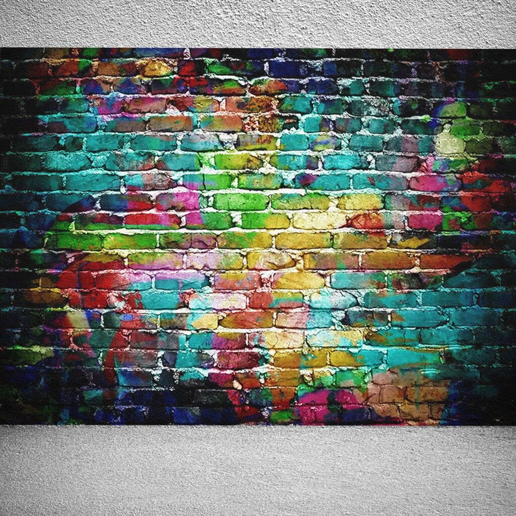 Lighting and Studio Equipment - 5x7ft Colorful Brick Wall Vinyl Backdrop Photography Props Background For Studio - Camera Accessories