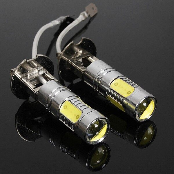 Engine Parts - 2 PIECE(s) High Power H3 CREE LED COB Car Fog Day Head Light - Car Replacement