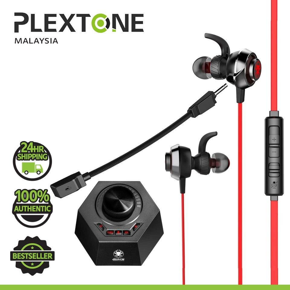 PLEXTONE G50 Super Gaming Earphones QUAKE vibration Game DSP Stereo 24bit 96KHz PC Headphones with Detachable Long Mic Headset Noise Reduction Compatible with GAMING PC MOBILE HUAWEI SAMSUNG REALME OPPO VIVO XIAOMI