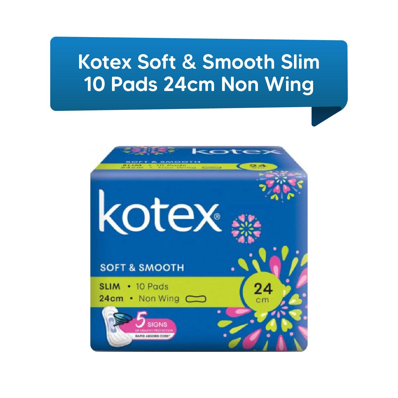 Kotex Soft & Smooth Slim 10 Pads 24 cm Non Wing