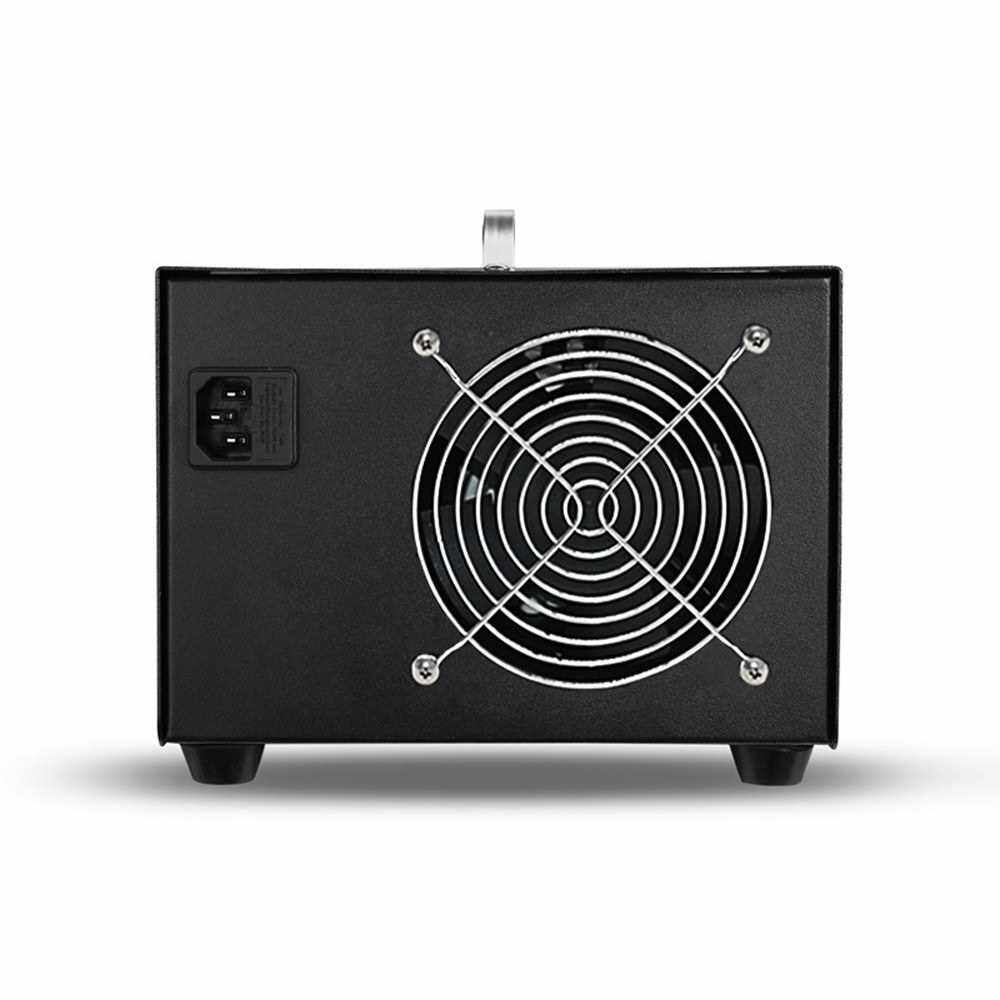 3500mg/h Portable Ozonator Zone Produce Machine Ozone Generator Air Filter Purifier Fan For Home, Kitchen, Office, Hotel, Car, Boat, Restaurant, Store Formaldehyde Remove,220V, EU Plug (Black)