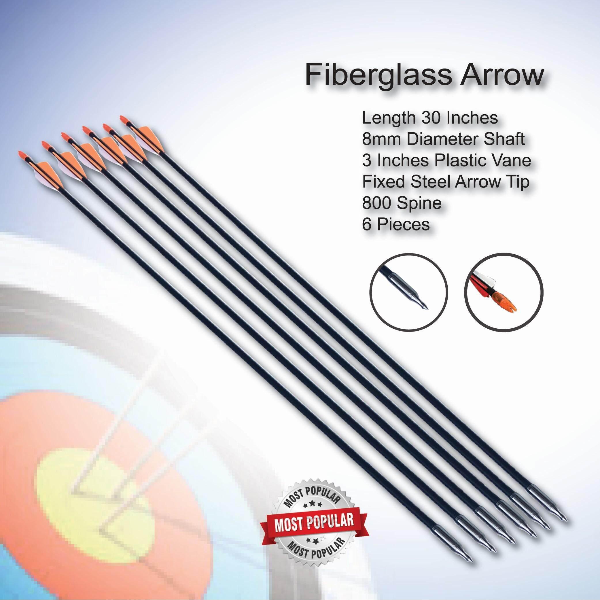 Archery Fiberglass Arrow 30Inches With Plastic Vane Fletcher For Training