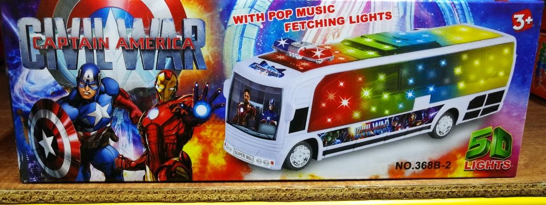 Kids Toy - Civil War Captain America Mini Bus Model Vehicles Car baby toys