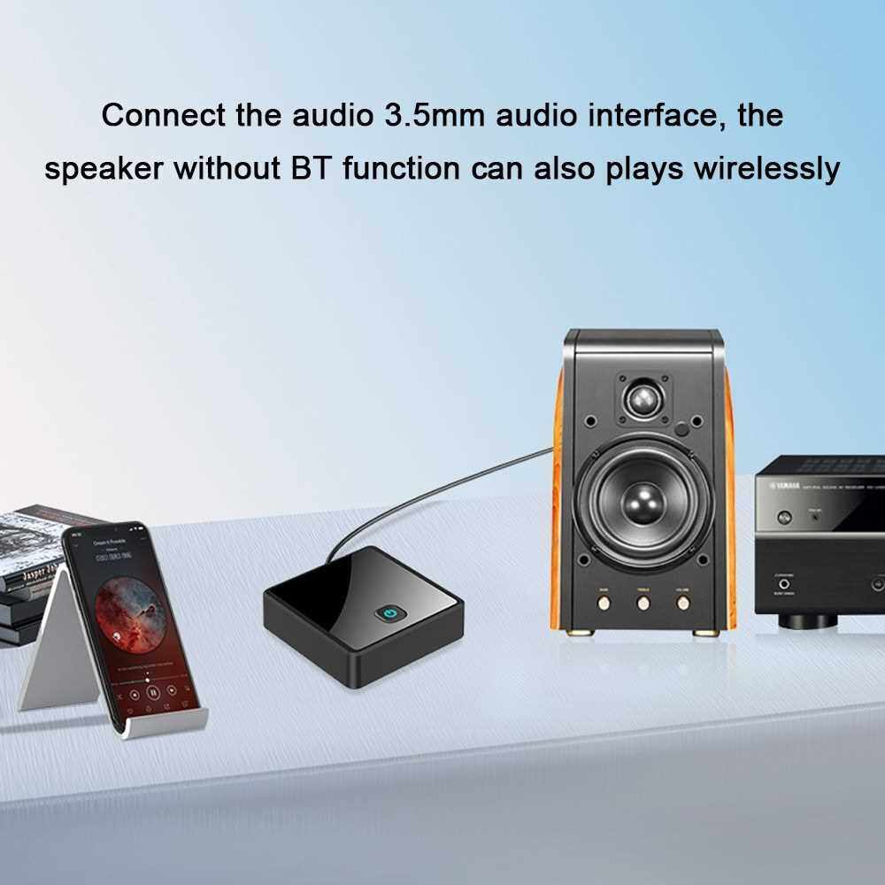 Fiber Optic BT 5.0 Wireless Audio Adapter 2-in-1 BT Receive Transmit AUX Plug And Plays Adapter BT Transmitters Receiver One Connects Two Audio Adapter (Standard)