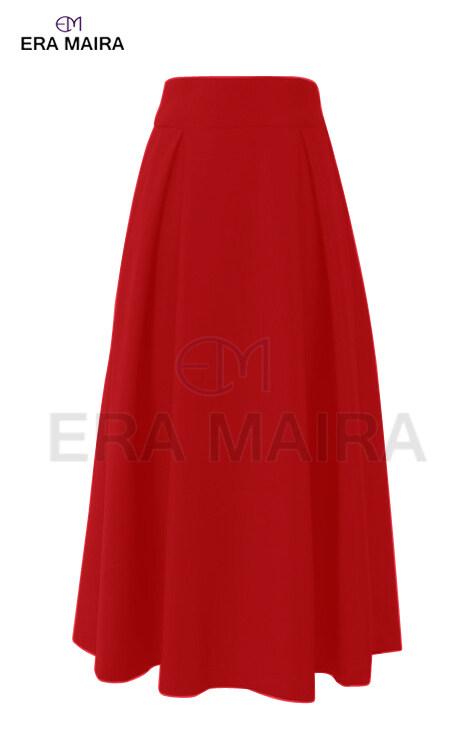 Full length front panel skirt for women