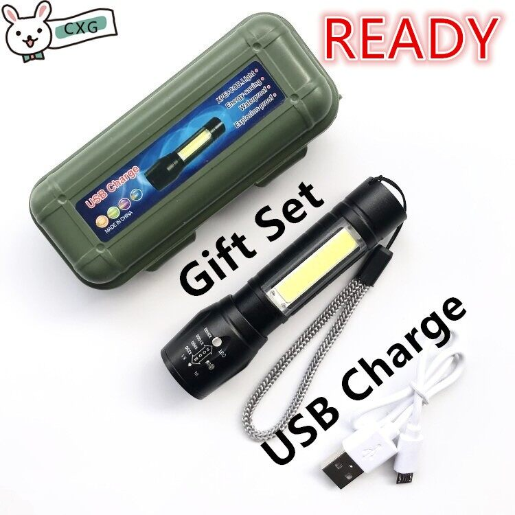 Rechargeable Waterproof LED Light Flashlight Torchlight Outdoor Multi Mode