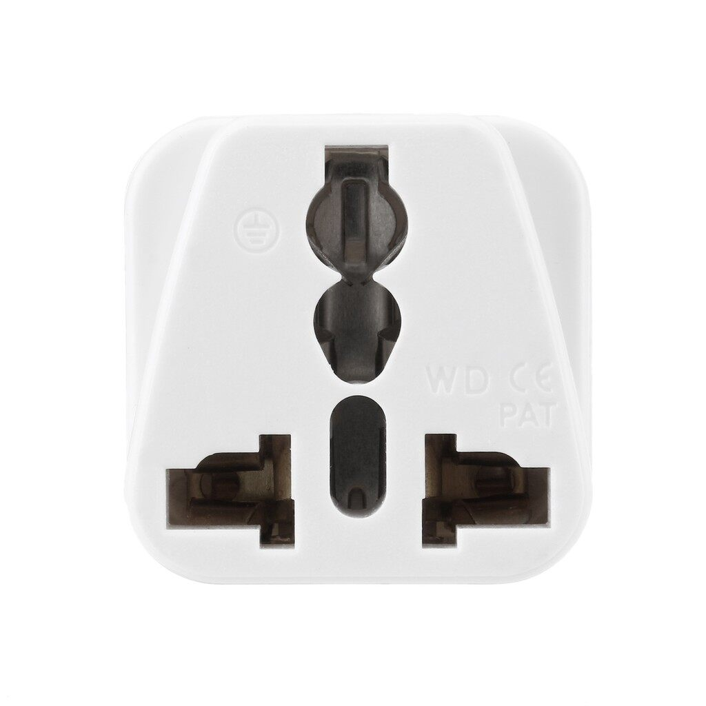 Travel Adapters & Converters - Universal 250V EU India to Africa 3 Pins Type D Plug Wall Power Travel Adapter - BLACK / WHITE