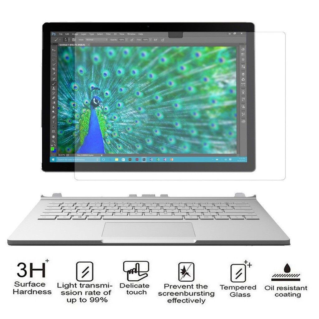 iPh Tempered Glass - Premium Anti-Scratch Screen Protector For Microsoft Surface Book 13.5'' Inc - Screen Protectors