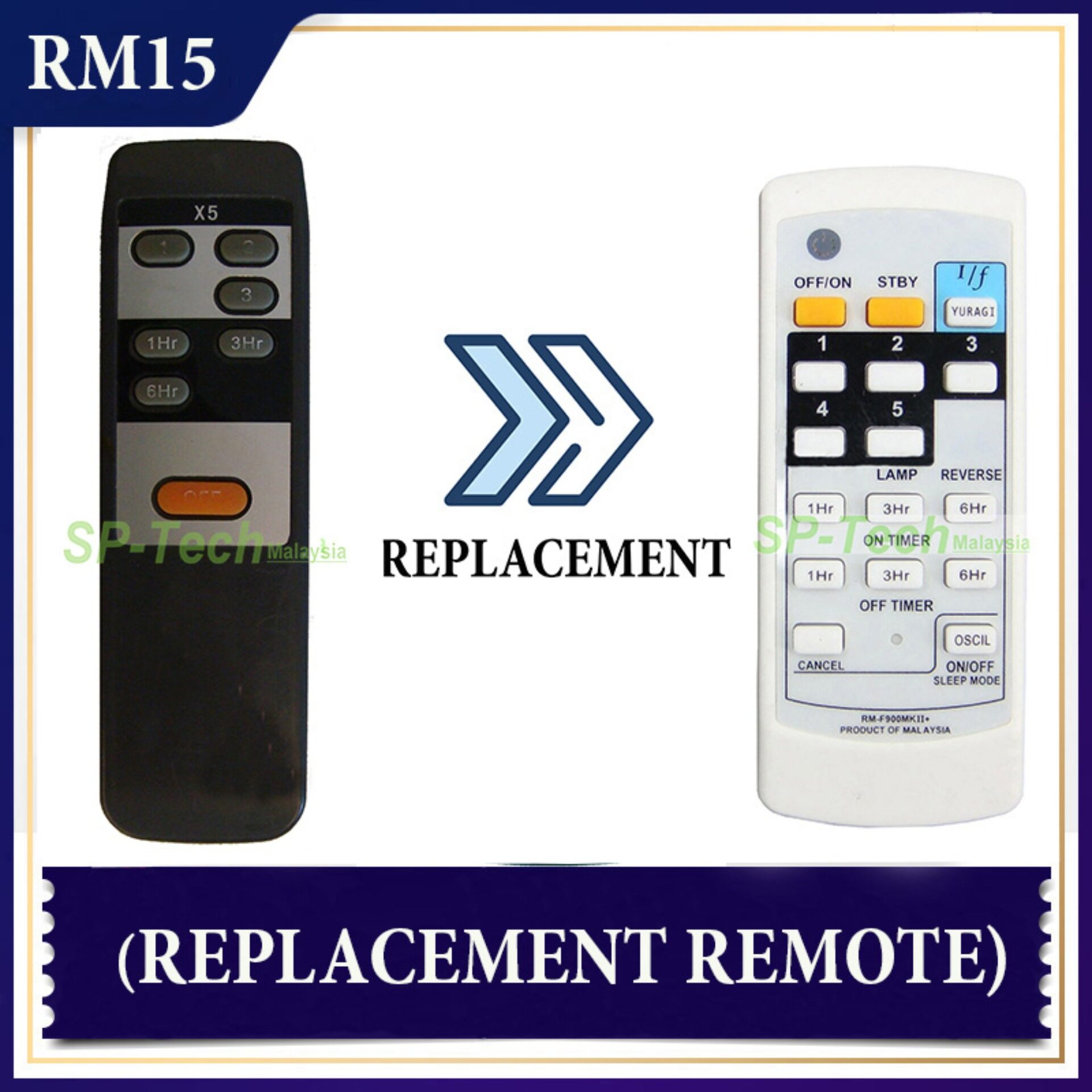 Deka X5 Fan Remote Control Replacement