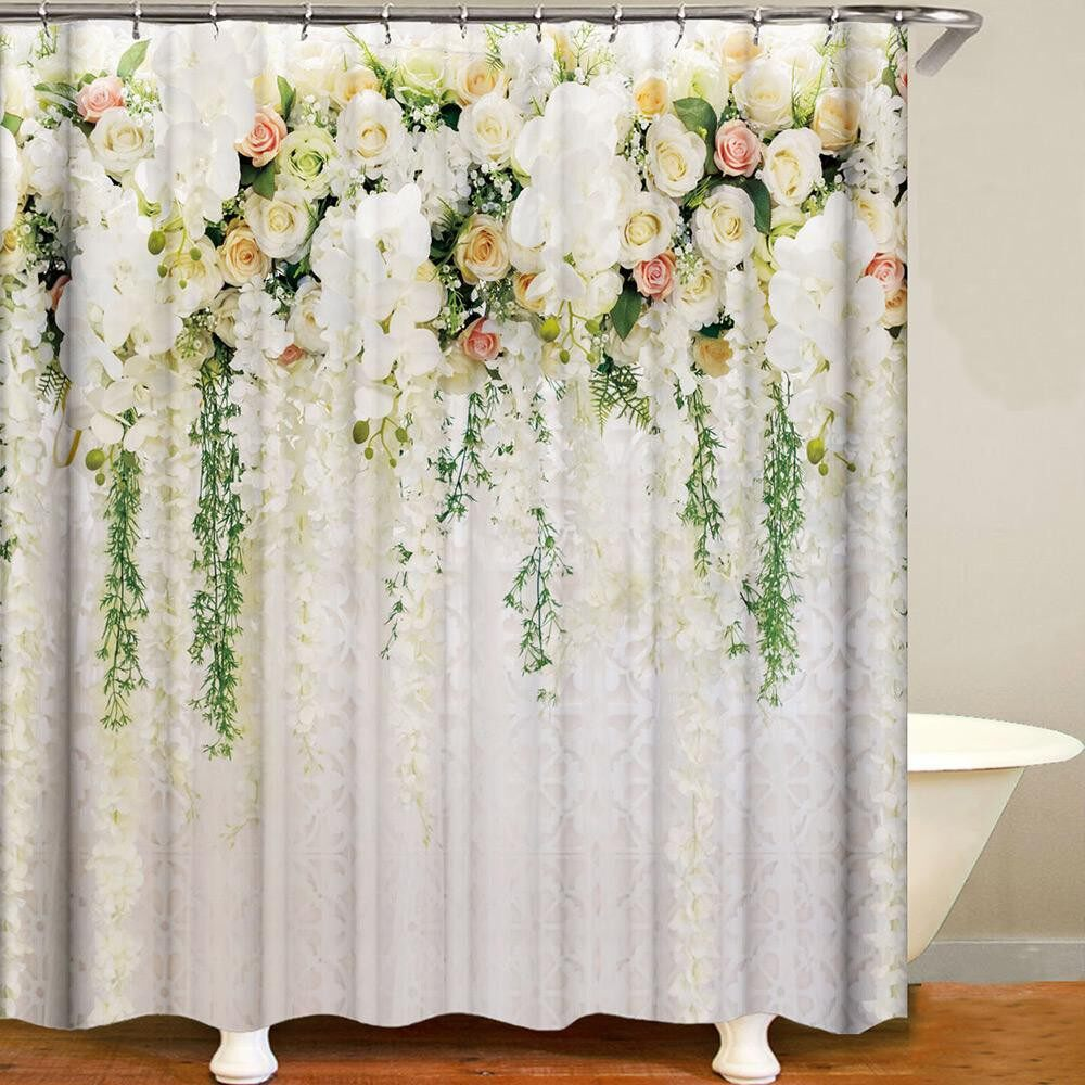Curtains & Blinds - Shower Curtain Flowers Trees Print Blackout Curtains Waterproof Mildew-proof - I / H / G / F / E / D / C / B / A