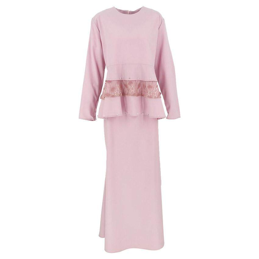 Harga BEST SELLER QFM Setha Peplum Baju Kurung Modern Flower Lace Baju Raya 2020 2020