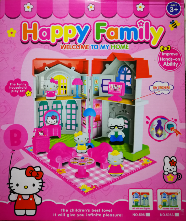 Hello Kitty Family Small Home Toys Set for girls