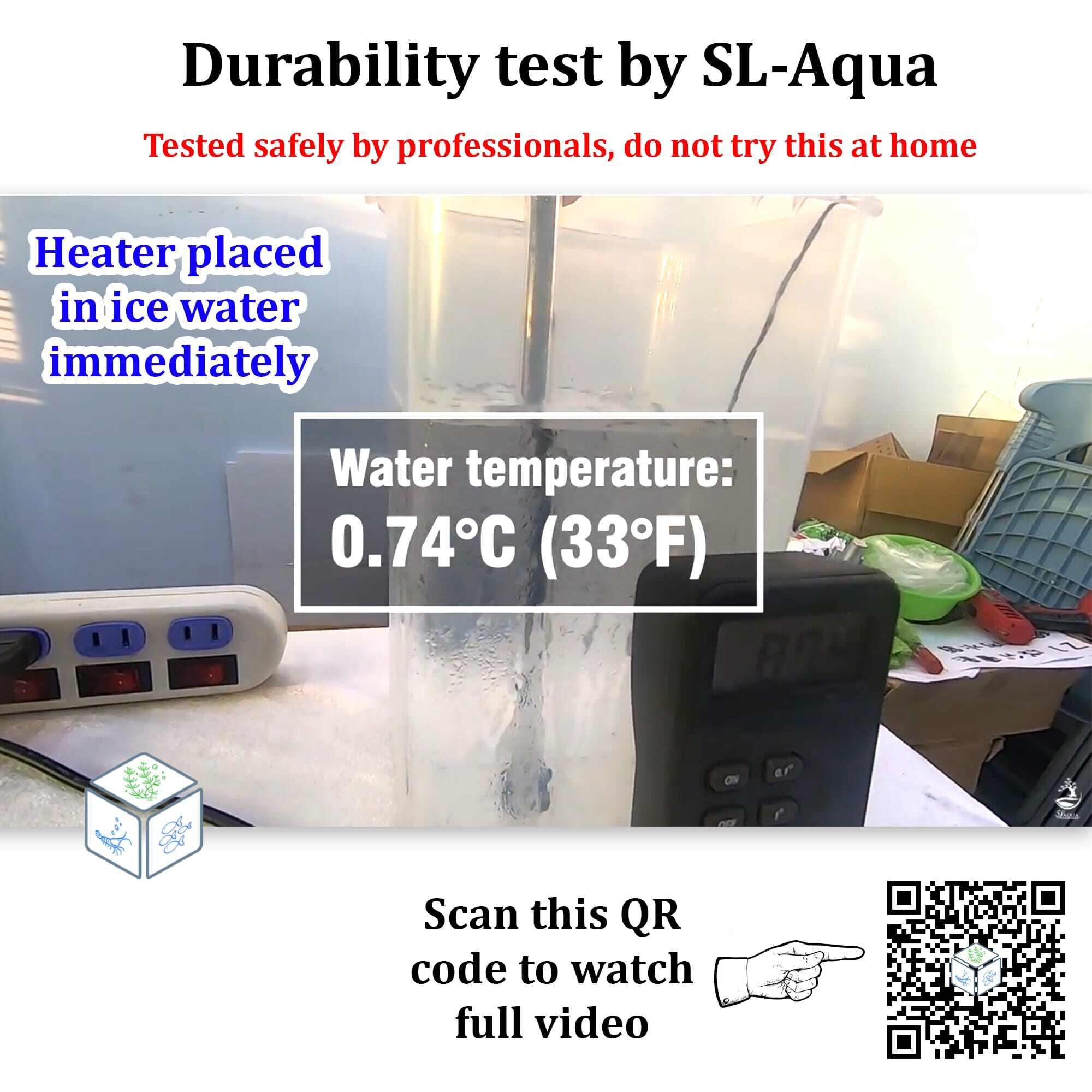 SL Aqua Quartz Submersible Adjustable Aquarium Heater SQH 50W