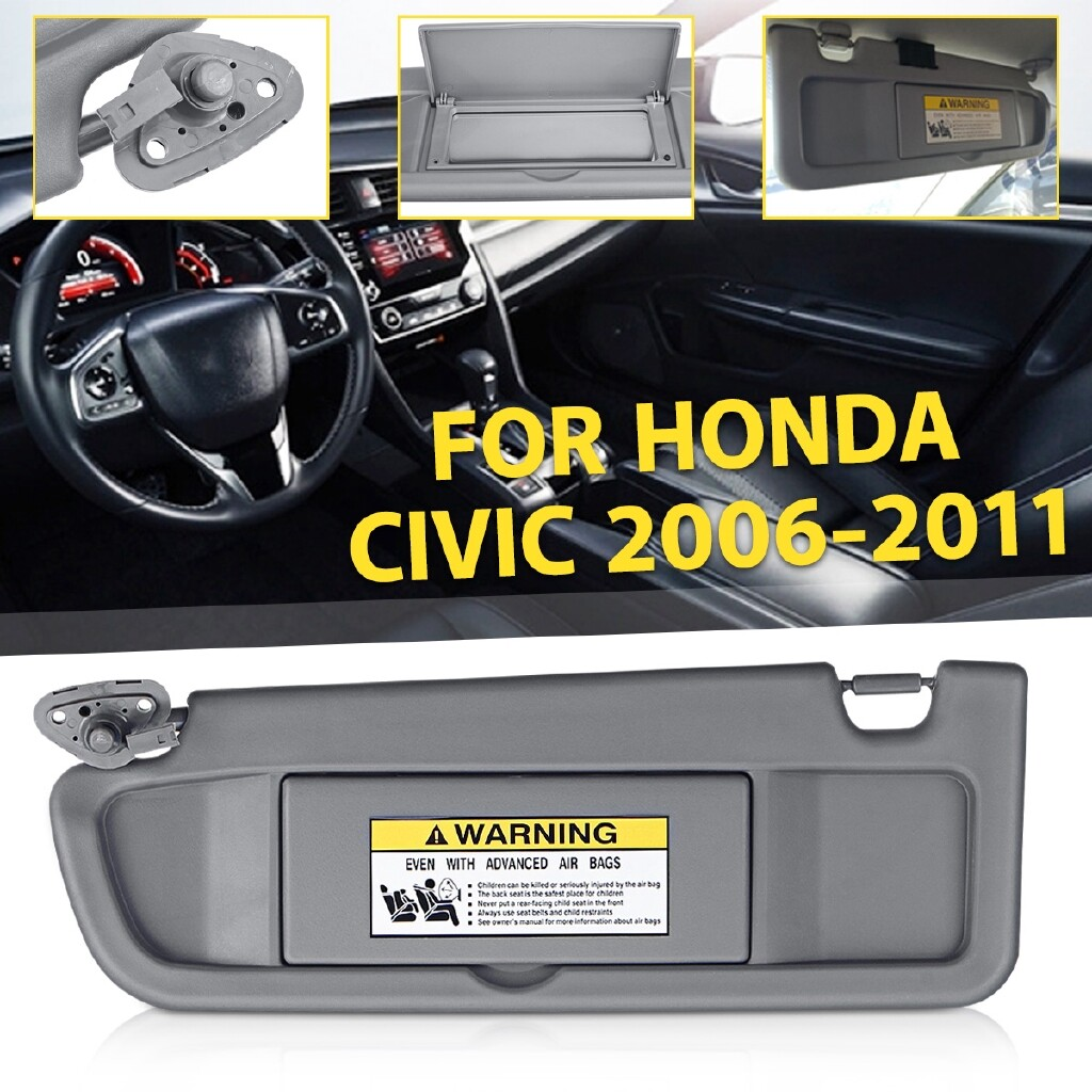 Automotive Tools & Equipment - Front Left Driver Car Sun Visor For 2006-2011 Honda Civic mhestore2009 - Car Replacement Parts