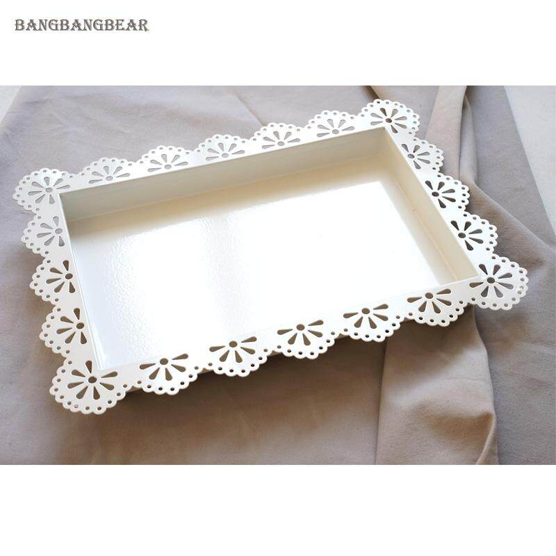 Catering Fruits Cake Wedding Special Occasion Decoration Square Plate . Ready Stock