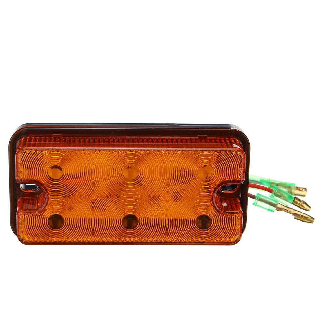 Car Lights - 6 LEDs Indicator Stop Rear Tail Lights Trailer Side Marker For Trucks/Trailers - Replacement Parts