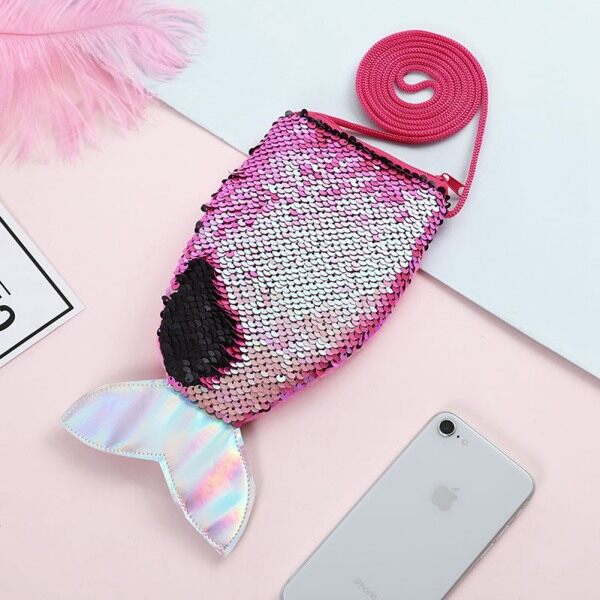 Giá bán CHIC DIARY Sequins Hologram Mermaid Tail Coin Purse Mini Travel Crossbody Shoulder Bag For Little Girls