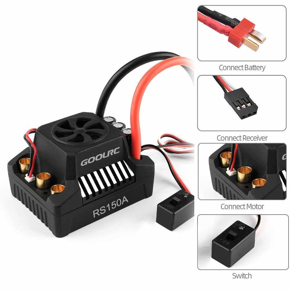 Best Selling GoolRC 150A Brushless ESC Electric Speed Controller 6.0V/8.4V/5A BEC for 1/8 1/10 RC Truck Off-road Car (Standard)