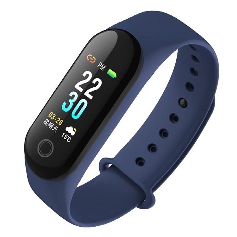 Smart Watch - XANES M30 0.96'' Color Screen IP67 Waterproof Smart Bracelet Heart Rate Monitor - RED / BLUE / BLACK