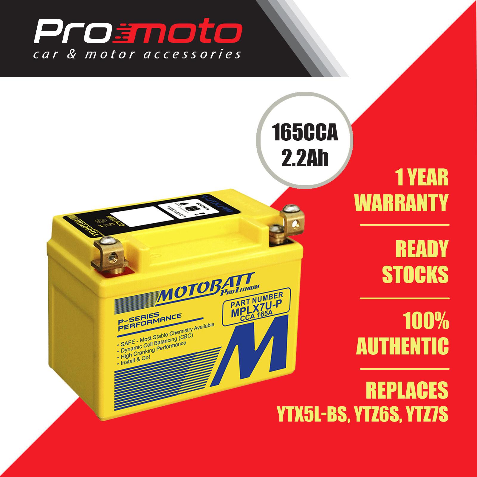 Motobatt Lithium battery MPLX7U-P (Replaces YTX5L-BS, YTZ6S, YTZ7S)